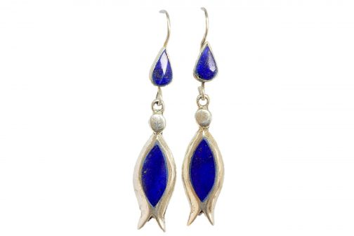 Earring of Lapis Lazuli Stone