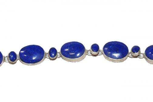Handmade Bracelet of Lapis Lazuli Stone