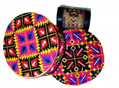 Traditional women cap of Hunza