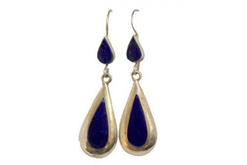 teardrop earring of Lapis Lazuli Stone