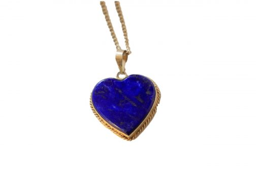 heart shaped Pendent of Pure Lapis Lazuli Stone